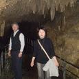 玉泉洞の石灰窟にて